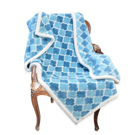 Sherpa Throw Blanket Snow 50