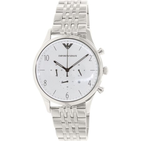 Emporio Armani Men's Beta AR1879 Silver Stainless-Steel Quartz Fashion Watch
