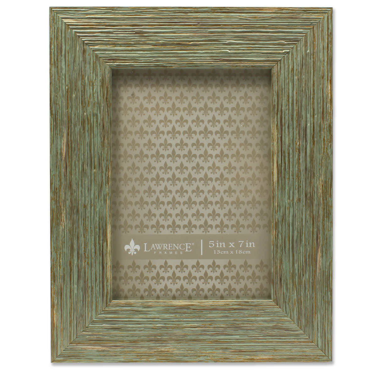 5x7 Weathered Green Decorative Picture Frame Deep Grain by Lawrence Frames