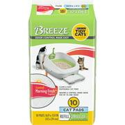 Purina Tidy Cats Litter System, Breeze Morning Fresh Fragrance Multi Cat Pad Refills, 10 ct. Box