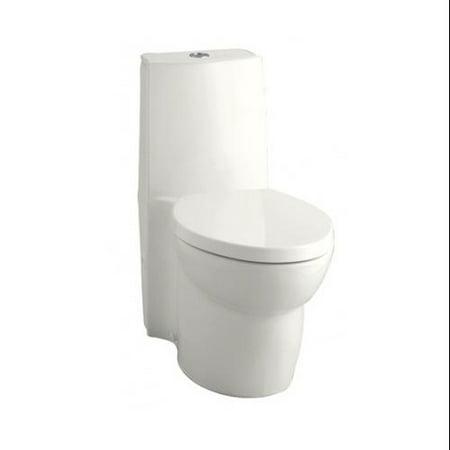 KOHLER K-3564-0 Saile Elongated One-Piece Toilet with Dual Flush Technology, ...