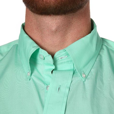 Cinch Apparel Mens  Mint  Pinpoint Oxford Long Sleeve Shirt 3X XXXL Green