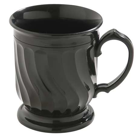 CARLISLE DINEX DX300003 Mug, Insulated, H 4 In, Onyx, PK 48