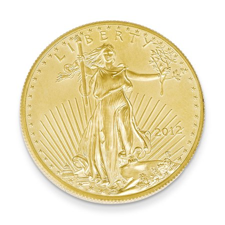 22K Yellow Gold 0.25oz American Eagle Coin Pendant