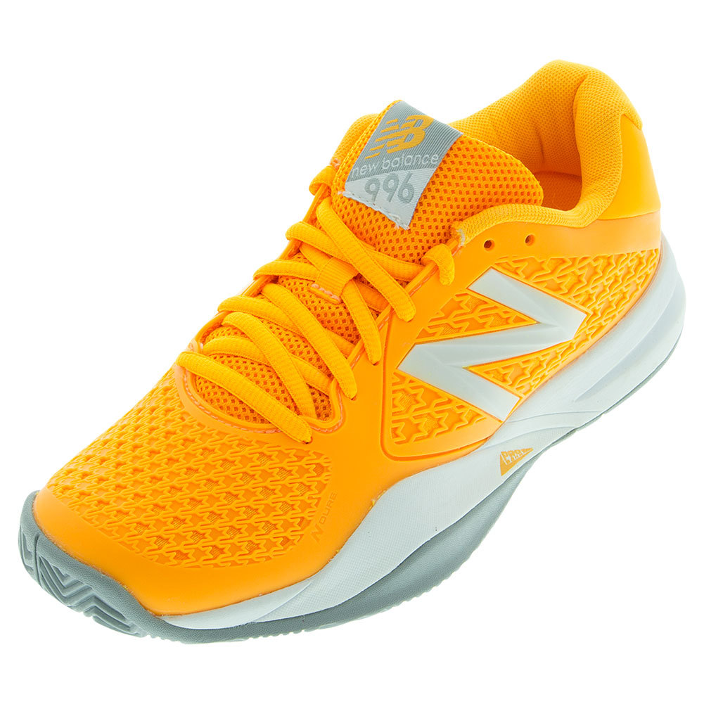 Women`s 996v2 Australian and Open Tennis Shoes Orange and Australian Gray 9774db