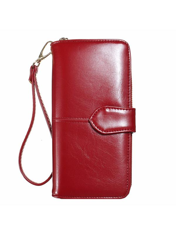 Meigar Fashion Gifts PU Leather Wallets For Women Long Card Holder Zipper Clutch Phone Purse Valentines Gifts for Her