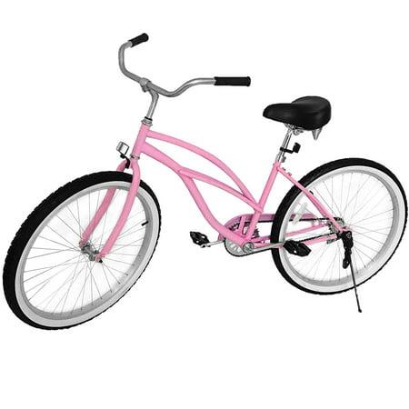 """BestEquip 24"""" Beach Cruiser Bicycle Women's Cruiser Bike Single Speed"""
