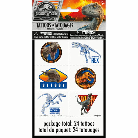 Temporary Tatoos For Kids (Jurassic World Temporary Tattoos,)