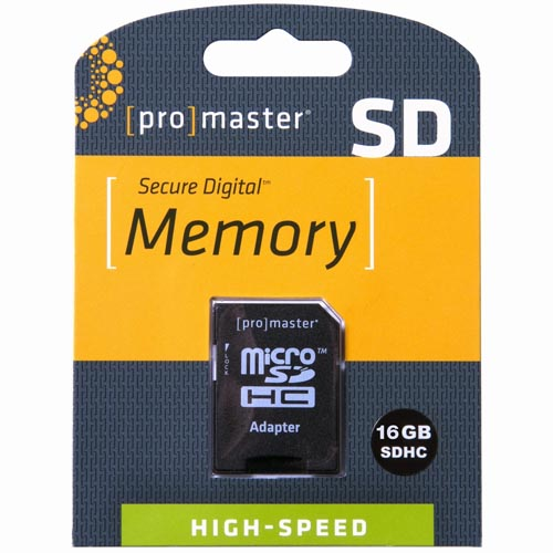 Promaster 16GB Micro SDHC High Speed Memory Card - 660x