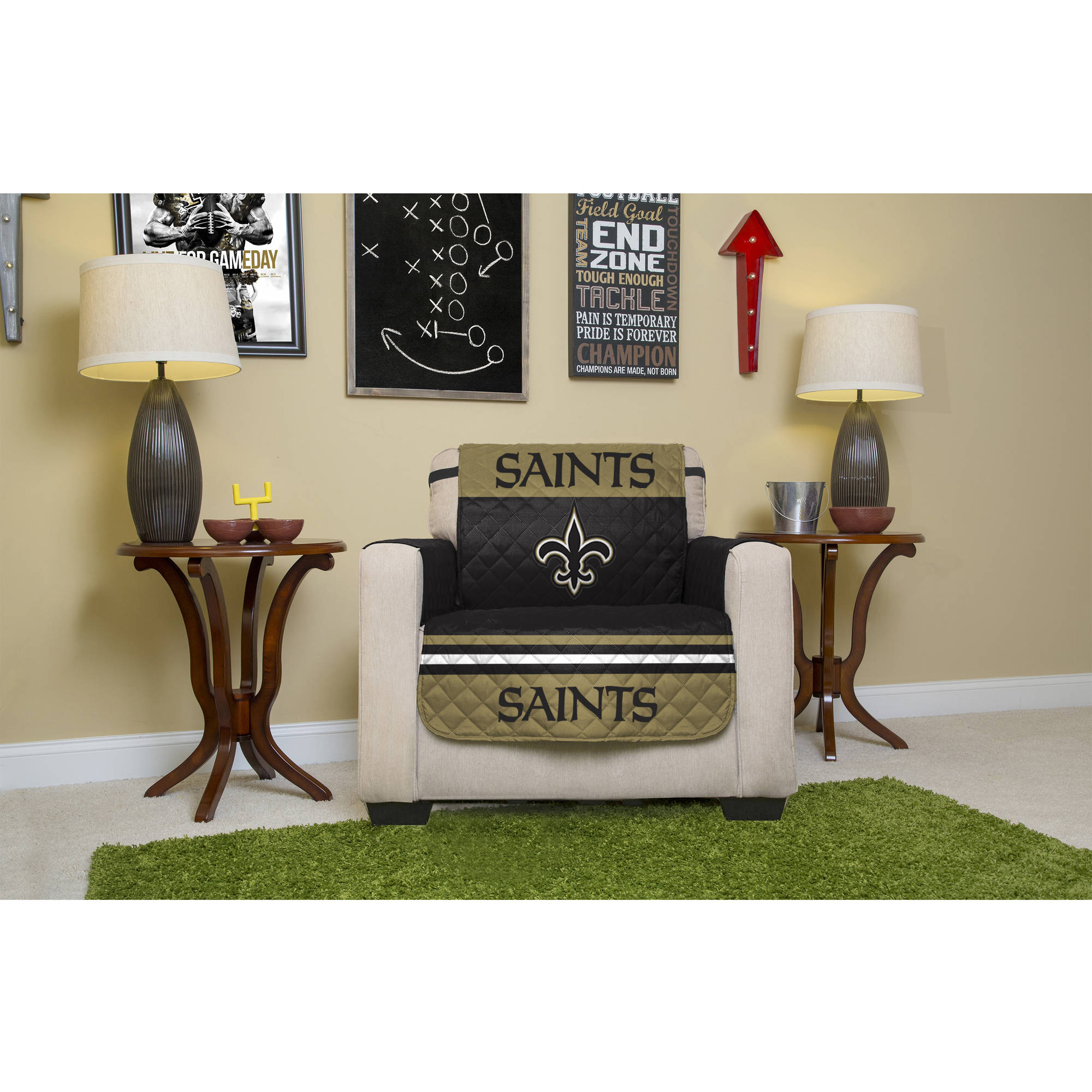 Charmant NFL Licensed Furniture Protector, Chair, New Orleans Saints   Walmart.com
