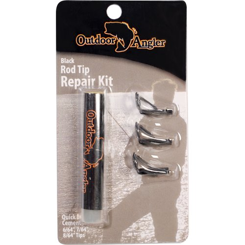 Outdoor Angler Fishing Rod Tips, Black