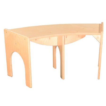 Wood Designs Curved Wood Bench