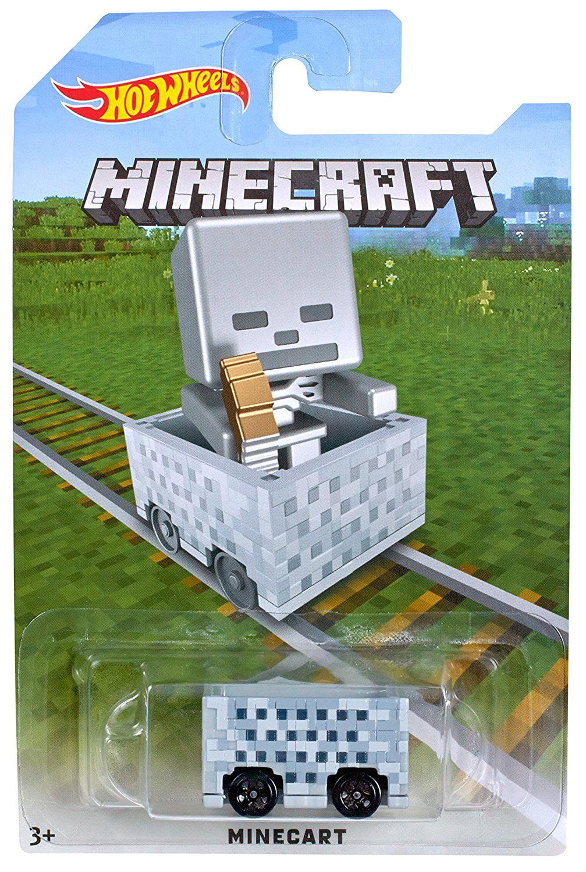 Hot Wheels Minecraft Skeleton Minecart by Mattel
