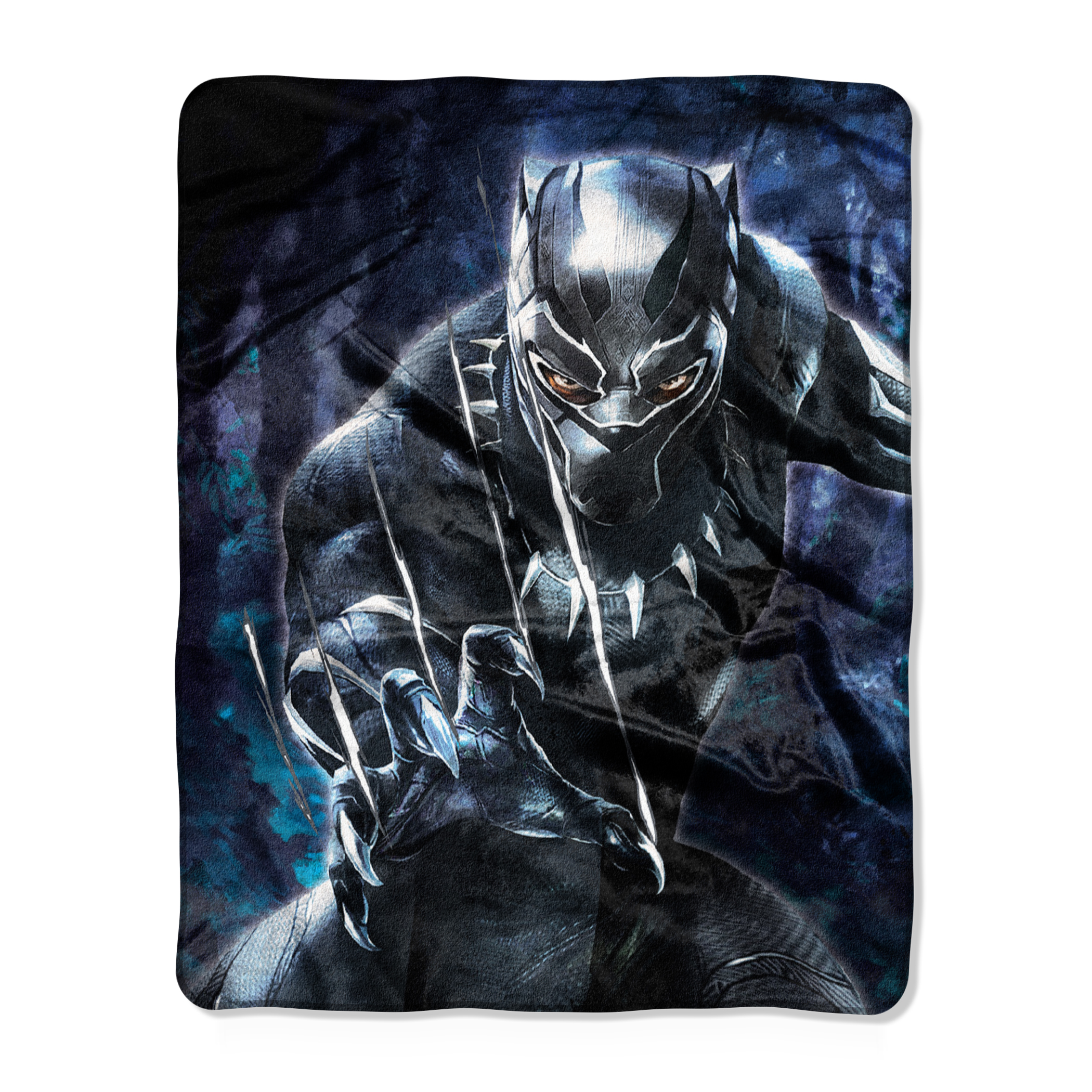 "Marvel's Black Panther Live-Action Movie, ""Black Claws"" 40""x 50"" Silk Touch Throw"