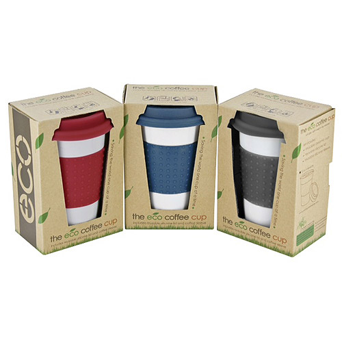 Smart Planet Porcelain Eco Cup Set, 3-Pack