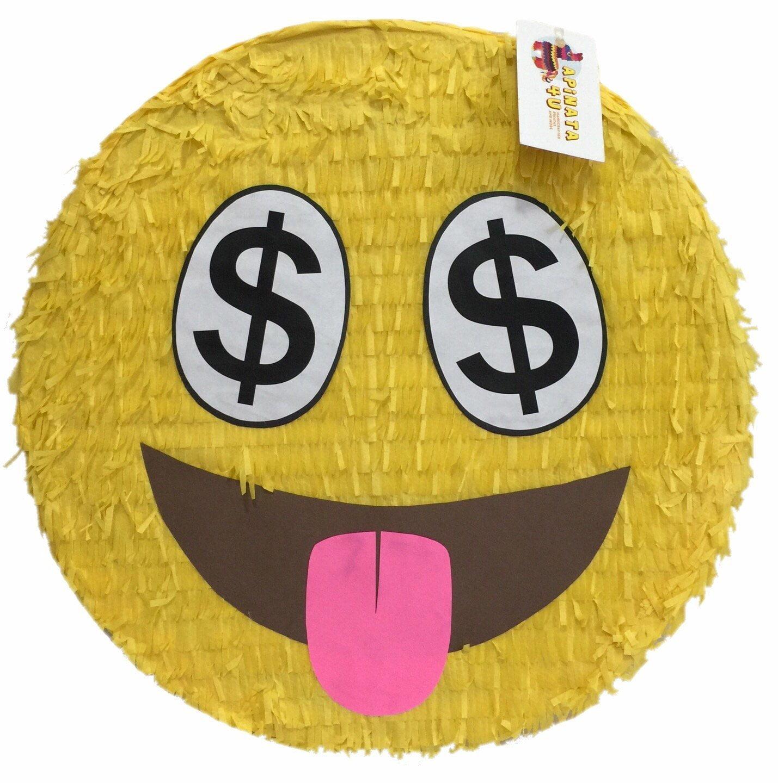 """APINATA4U Money Lover Emoticon Pinata 16"""""""