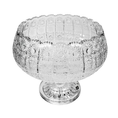 Footed Deep Bowl - Bohemia Crystal Footed Bowl, 10