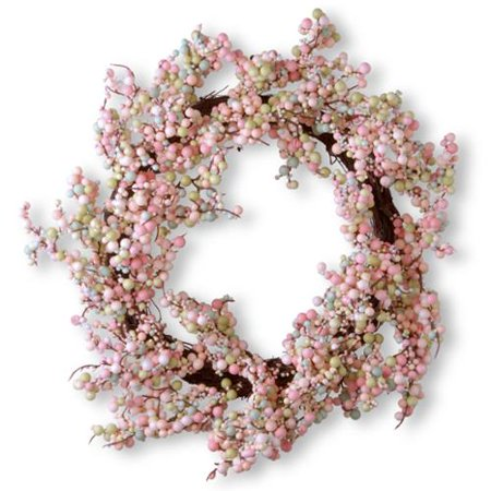 National Tree Company  15 75 Inch Light Pink Wreath