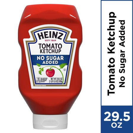 Heinz No Sugar Added Tomato Ketchup, 29.5 oz Bottle
