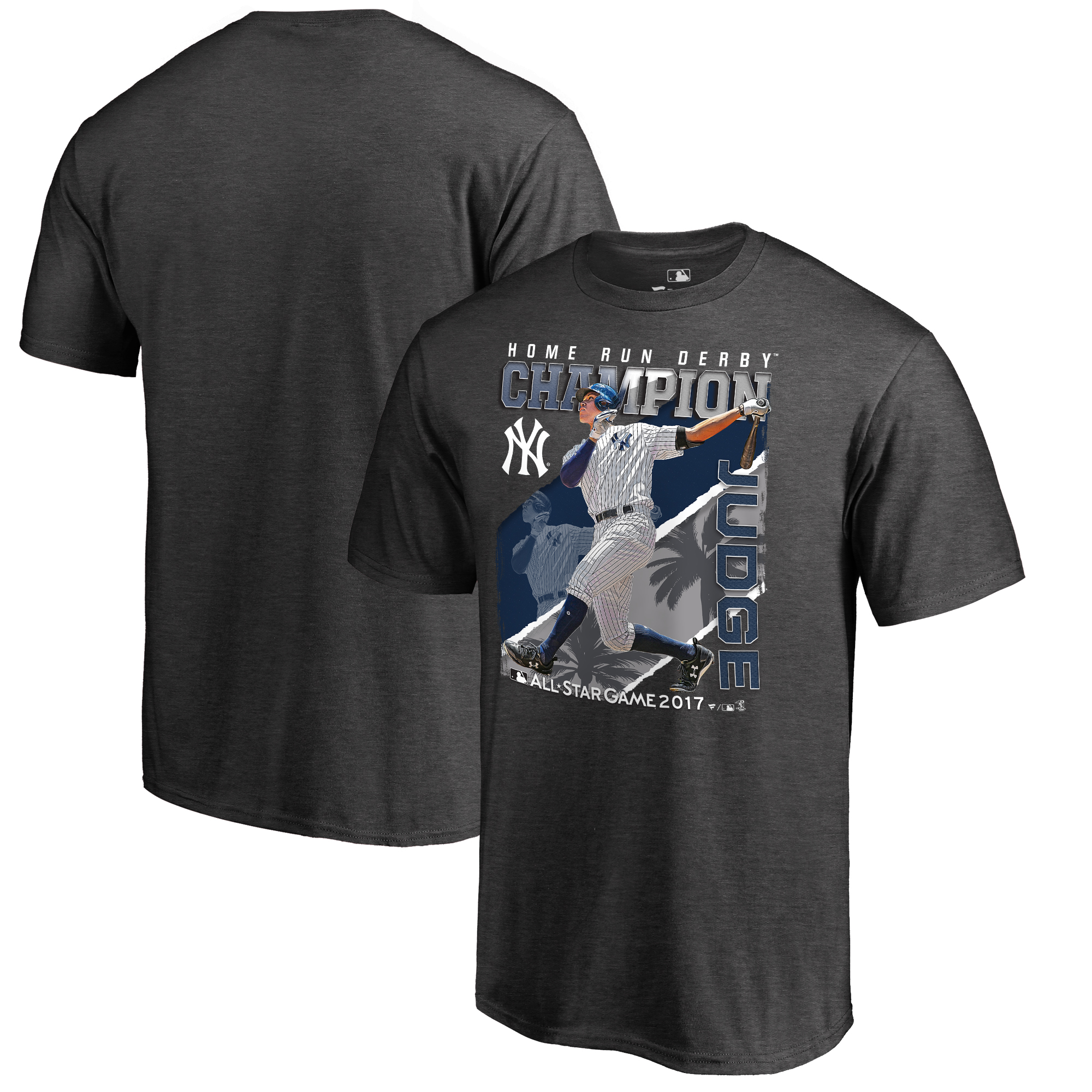 Aaron Judge New York Yankees Fanatics Branded 2017 MLB All-Star Game Home Run Derby Champion Big & Tall T-Shirt - Gray