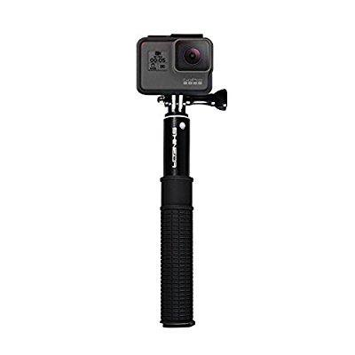 shineda telescopic wired cable selfie stick for smart phones and gopro hero 2 3 4 5 black. Black Bedroom Furniture Sets. Home Design Ideas