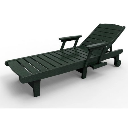 Chaise lounge by malibu outdoor delray turf green for Chaise walmart