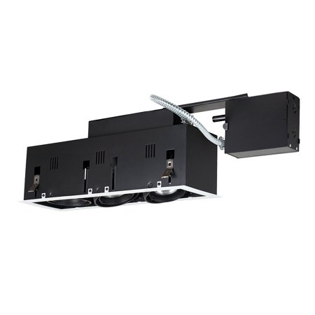 Jesco Lighting MGRP20-3WB 3 - Light Double Gimbal Linear Recessed Fixture Line Voltage.