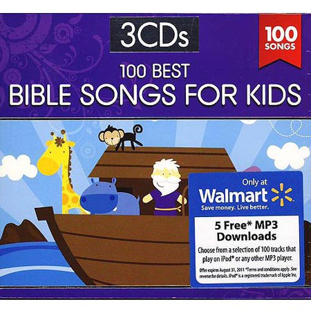 Audio CD-100 Best Bible Songs For Kids (3 CD)
