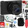 Sony Cyber-Shot DSC-RX100 Digital Camera + 64GB SDXC Memory Dual Battery Kit + Accessory Bundle E12SNDSCRX100 CAMERA INCLUDES:Micro USB cableInstruction ManualBattery NP-BX1Wrist StrapAC Adaptor AC-UD10/11Shoulder Strap AdaptorSony AUTHORIZED DEALER Full USA WarrantyBUNDLE INCLUDES:Kodak Pro Camera Case for Digital Cameras (Black)64GB Class 10 UHS-1 SDXC Memory Card2 x NP-BX1 Extra Battery Pack and ChargerCorel PaintShop Pro X9 Digital Download12-inch Rubberized Spider TripodLCD/Lens Cleaning PenSD Memory Card ReaderTri-fold Memory Card WalletLCD Screen ProtectorsMini Tabletop Tripod3 Piece Lens Cleaning KitBeach Camera Microfiber Cleaning Cloth