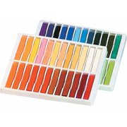 """School Smart Square Drawing Pastel Stick Set, 0.38"""" x 2.5"""", Assorted Colors, Set of 24"""