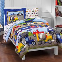 Dream Factory Trains And Trucks 5-7 Piece Comforter Set