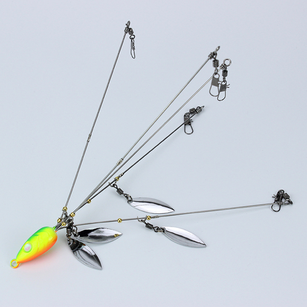 5-arms Stainless Steel Fishing Rig Swimming Bait Alabama Umbrella Rig Head