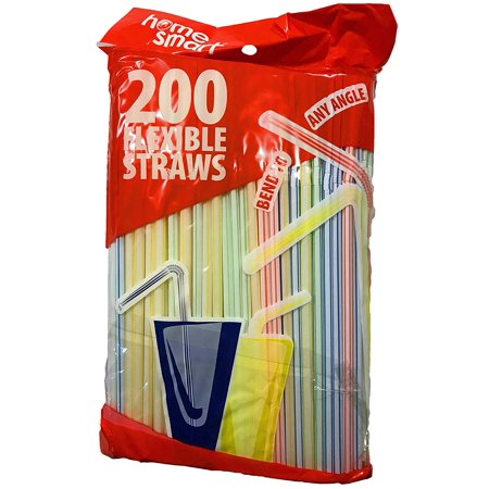 - Home Smart 200ct Disposable - Flexible - Multi-Colored 8.25