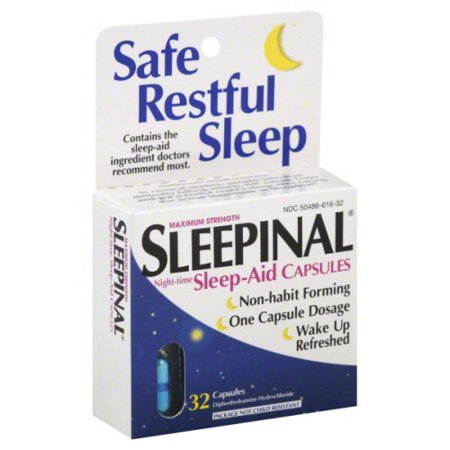 Sleepinal Night-Time Sleep Aid Maximum Strength Capsules - 32 Ea