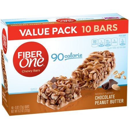 Fiber One 90 Calorie Bar Chocolate Peanut Butter 10   0 82 Oz Bars