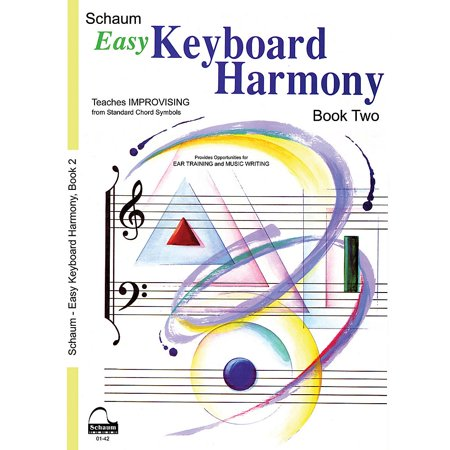 SCHAUM Easy Keyboard Harmony Educational Piano Book by Wesley Schaum (Level Early Inter)