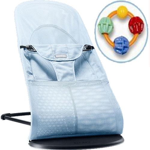 Baby Bjorn 005009USKT2 Bouncer Balance With Click Clack Balls Teether -Ice Blue by BabyBj%C3%B6rn