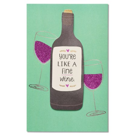American Greetings Fine Wine Birthday Card With Glitter Walmart