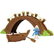 The Smurfs Movie Moments Smurf Village Bridge and Boat Figure Playset