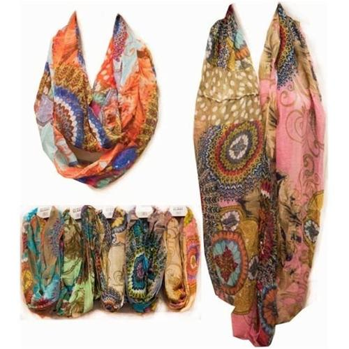 Infinity Scarves- Feather Prints Case Of 24