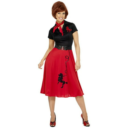 50s Style Poodle Adult Costume - Medium