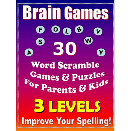 Halloween Word Scramble Puzzles (Brain Games - 30 Word Scramble Games & Puzzles for Parents & Kids - Improve Your Spelling -)