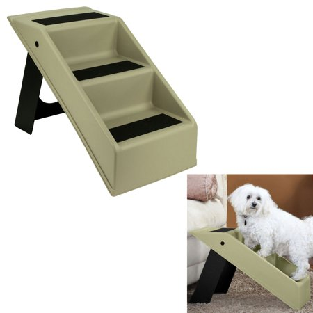 Pet Dog Stairs 3 Step Portable Folding Plastic Anti Slip
