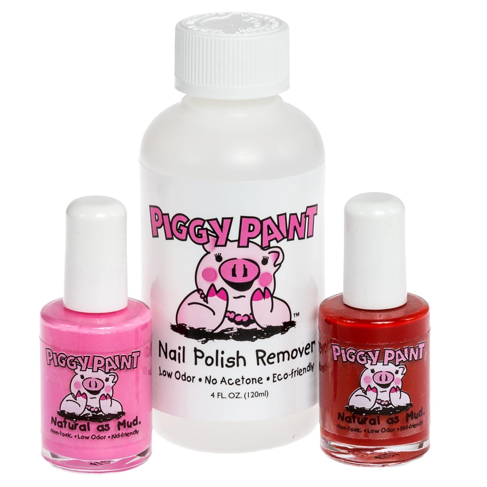 Piggy Paint Girls Non-Toxic 2 Color Nail Polish Set w/ Remover ...