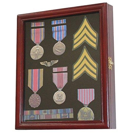 - Display Case Cabinet Shadow Box for Military Medals, Pins, Patches, Insignia, Ribbons
