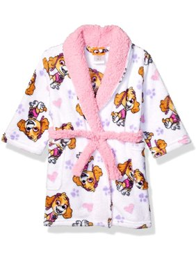 Nickelodeon Girls' and Boys' Toddler Paw Patrol Luxe Plush Bath Robe, Paw Patrol, Size: 5T