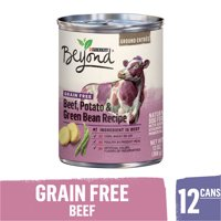(12 Pack) Purina Beyond Grain Free, Natural Pate Wet Dog Food, Grain Free Beef, Potato & Green Bean Recipe, 13 oz. Cans