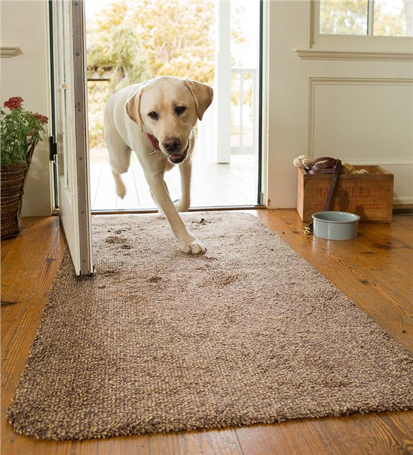 "Medium Microfiber Mud Rug Doormat, 19"" X 29"" by Plow & Hearth®"