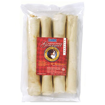 - Cadet Rawhide Retriever Rolls, Beef Dog Chews, 4 Count