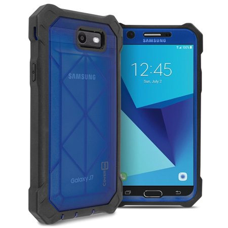 Galaxy J7 Prime Case, Galaxy Halo Case, HJ Wireless VitaCase Series Protective Heavy Duty Full Body Phone Case with Faceplate for Samsung Galaxy J7 Prime/Galaxy Halo - (Faceplate 6 Series)